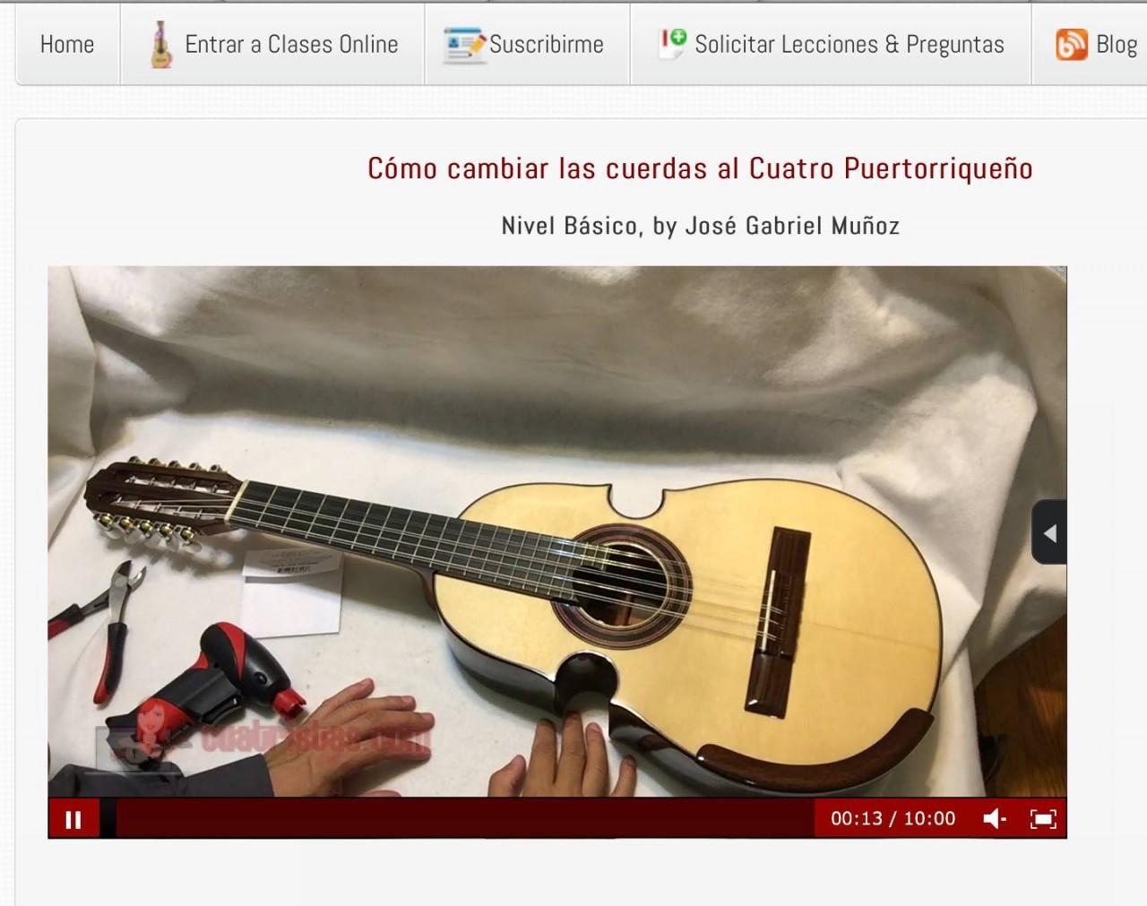 Cómo cambiar las Cuerdas Cuatro Puertorriqueño