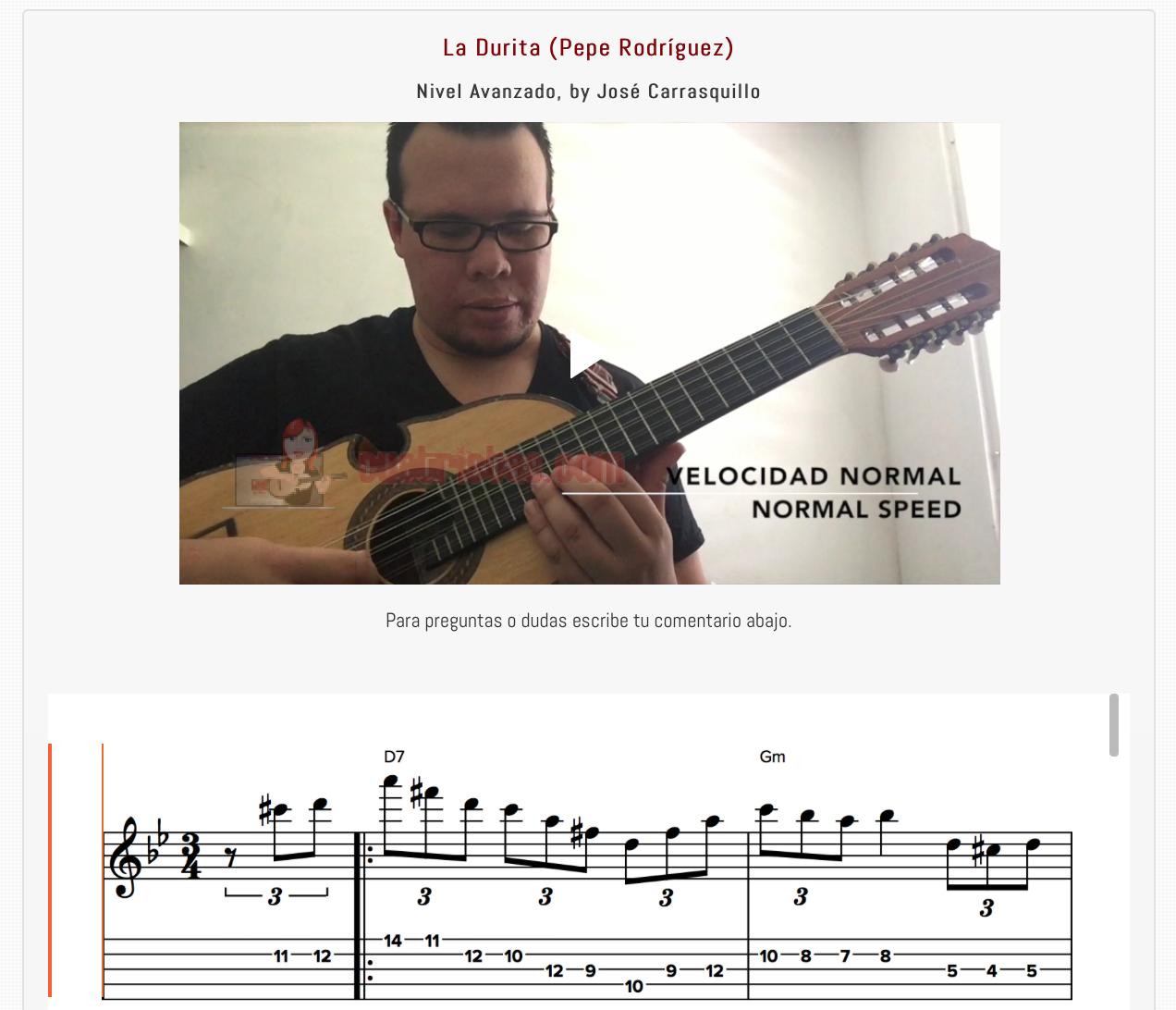 Nueva lección: Mazurka La Durita, Pepe Rodríguez (Nivel Avanzado)