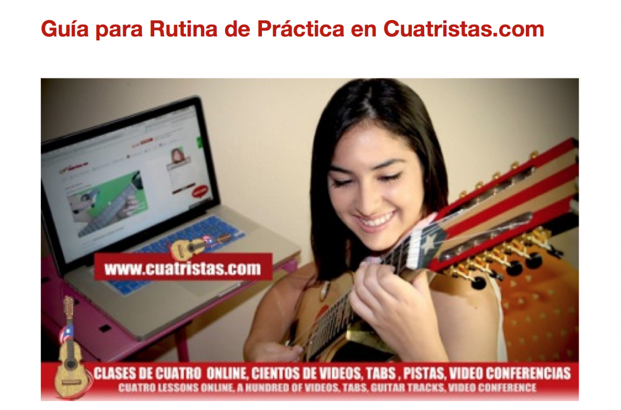 Guide for Practice Routine of Puerto Rican Cuatro